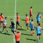 El equipo al completo se entrenó en el Marbella Football Center