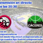 Sigue en directo el Carramimbre CBC Valladolid Vs Cáceres Patrimonio Humanidad