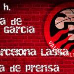 Rueda de prensa de Paco García, previa al enfrentamiento contra FC Barceloma Lassa